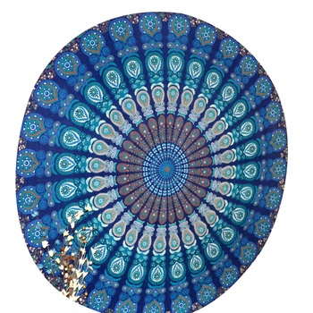 Indian Mandala Roundie Beach Tapestry Hippy Gypsy Cotton Table Covers Hippie Boho Yoga Mat Bohemian Spread Cover