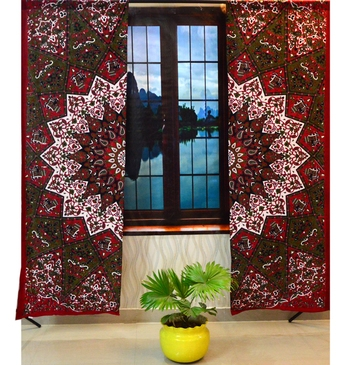 Psychedelic mandala curtains wall tapestry cutain decor window wall hanging art