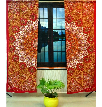Indian star mandala cotton hippie tapestry door cutain window curtains bohemian