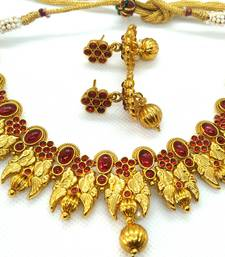 Pink agate south indian jewellery