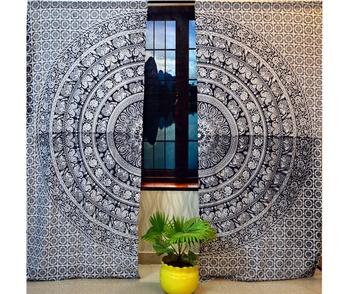 Indian cutain peacock mandala cotton hippie tapestry door decor window curtains