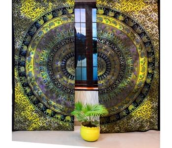 Die dye mandala cutain cotton hippie tapestry door decor window  ethnic curtains