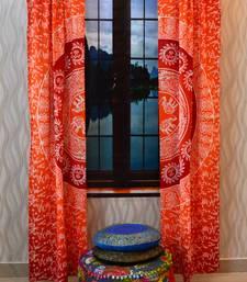 Mandala curtain tulle voile indian door window drape panel sheer scarf valances