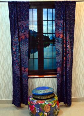 Mandala curtain hippie tulle sheer voile door window drape indian throw valances