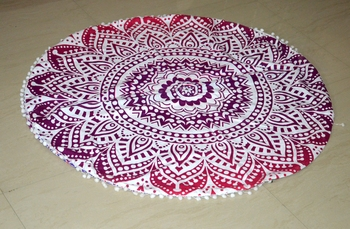 Mandala Roundie Beach Indian Ombre Tapestry Hippy Gypsy Cotton Table Covers Hippie Boho Yoga Mat Bohemian Spread Cover