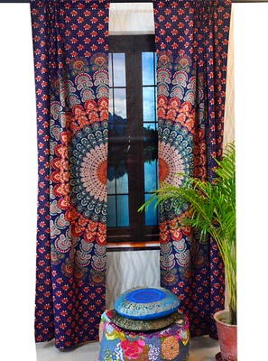 Mandala indian curtains wall tapestry boho decorative window curtain tapestries