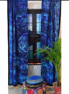 Elephant mandala curtains wall tapestry decorative window curtain tapestries art
