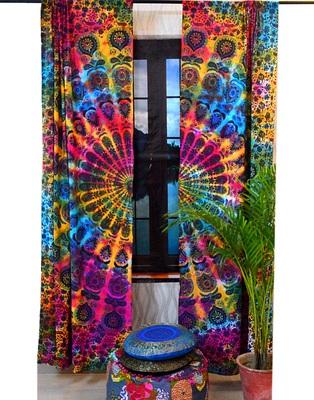 Mandala indian curtains wall tapestry boho decorative window curtain tapestries