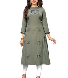 Grey woven cotton kurti