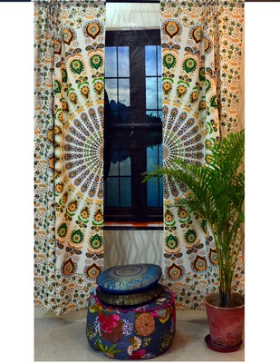 Mandala curtains indian window hippie tapestries window cover home decor curtain