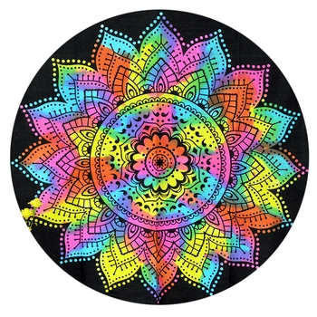 Mandala Roundie Beach Multi Color Indian Tapestry Hippy Gypsy Cotton Table Covers Hippie Boho Yoga Mat Bohemian