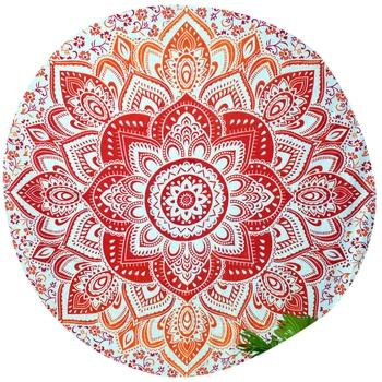 Mandala Roundie Beach Throw Big Flower Mandala Tapestry Hippy Gypsy Cotton Table Covers Hippie Boho Yoga Mat Bohemian