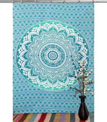 Mandala window hook curtains drape balcony room decor curtain boho set ethnic set hook tapestry
