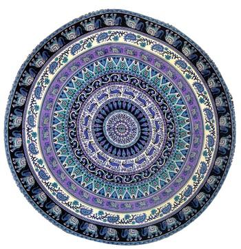 Mandala Roundie Beach Indian Elephant Tapestry Hippy Gypsy Cotton Table Covers Hippie Boho Yoga Mat Bohemian