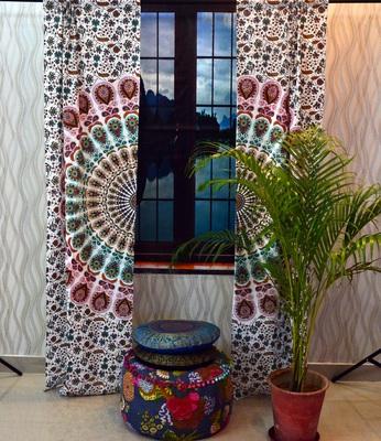 Indian mandala door curtain cotton hippie tapestry decor window curtain wall art