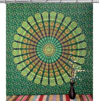 Hook tapestry curtain 2 valances drape panel boho decor window curtain drape handmade curtain tapestry throw
