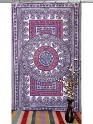 Boho living room hook curtains bohemian curtains for bedroom tie dye tapestry curtains mandala hippie dorm decor