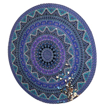 Mandala Roundie Beach Indian Tapestry Hippy Gypsy Cotton Table Covers Hippie Boho Yoga Mat Bohemian Spread Cover