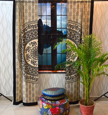 Door window mandala curtain drape panel sheer scarf valances tapestry wall throw