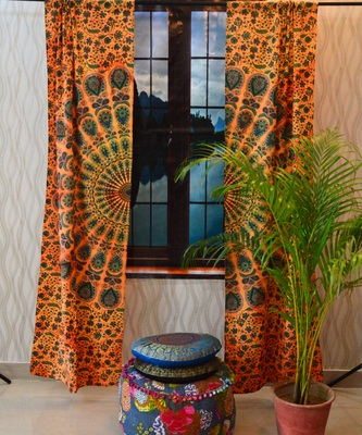 Tie dye mandala curtains throw tapestry drapes window treatment curtain tapestry
