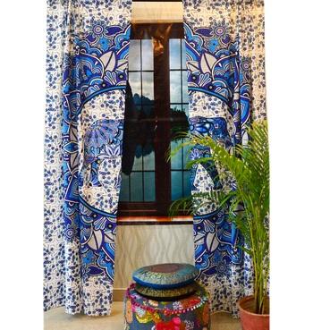 Elephant mandala curtains tapestry drapes window valances bohemian throw curtain