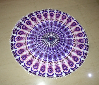 Mandala Roundie Beach Throw Tapestry Hippy Gypsy Cotton Table Covers Hippie Boho Yoga Mat Bohemian Spread Cover