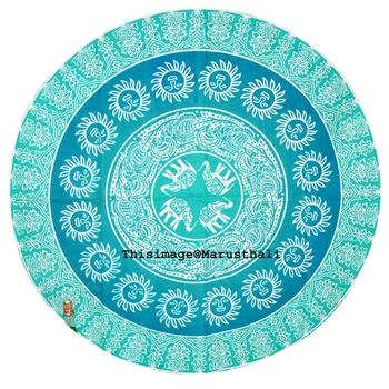 Mandala Roundie Beach Throw Tapestry Hippy Gypsy Sun Table Covers Hippie Boho Yoga Mat Bohemian Spread Cover