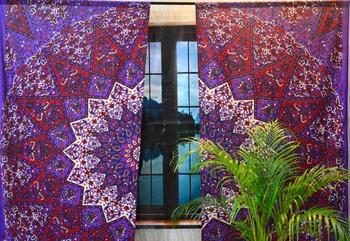 Star mandala cotton hippie indian tapestry door curtain window curtains bohemian