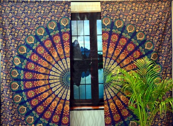 Indian mandala wall hanging bohemian curtains tapestry wall curtain valances art