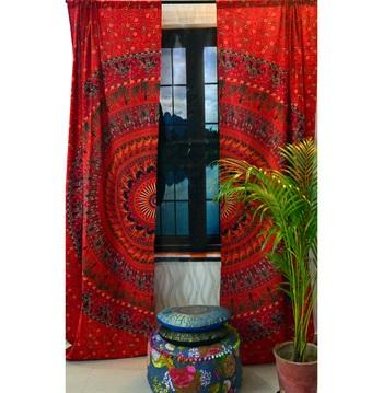 Indian mandala bedroom door wall tapestry decorative curtains blinds curtain set
