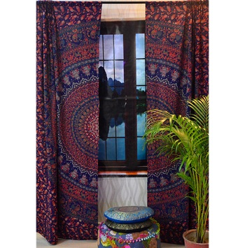 Indian mandala curtains drapes wall decor curtain valances cotton tapestry throw