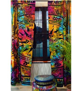 Mandala curtains drapes wall hanging home decor curtain valances celic tapestry