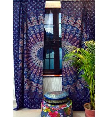Door curtain mandala cotton hippie tapestry decor window curtain bedroom decor