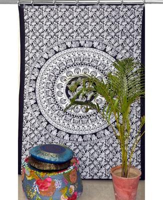 Mandala bedroom drape balcony room decor curtain boho set tapestry curtains drapes valances bohemian