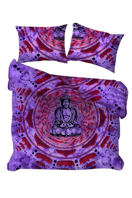 Indian Mandala Duvet Cover Throw Reversible Horoscope Tie dye Cotton Doona Cover Handmade Bedding Quilt Cover Set