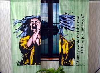 Indian mandala curtain hippie bohemian handmade include 2 panel set twin bob marley tapestry, drapes & valances