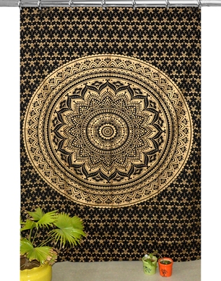 Indian hook curtain mandala curtains include 1 panel set mandala curtain hook tapestry