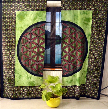 Indian mandala curtain hippie bohemian handmade include 2 panel set queen tapestry, drapes & valances