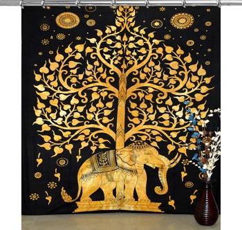 Indian elephant hook curtain tree of life curtains include 1 panel set mandala curtain hook