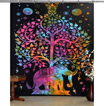 Mandala hook curtain panel elephant living room hook luxury door curtains tie dye tapestry twin hooks tapestry