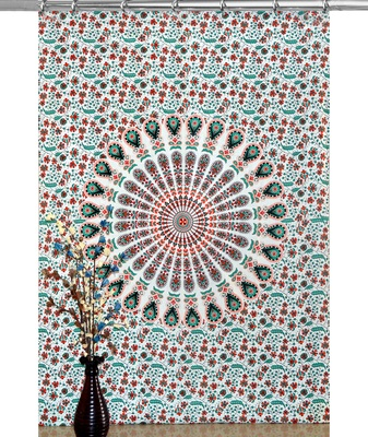 Indian hook curtain mandala curtains include 1 panel set mandala curtain hook tapestry