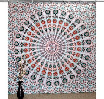 Indian hook curtain mandala curtains include 1 panel set mandala curtain hook tapestry drapes valances