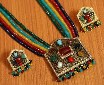 Multicolor ruby necklace sets