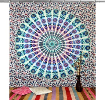Mandala bedroom drape balcony room decor curtain boho set tapestry curtains drapes valances bohemian