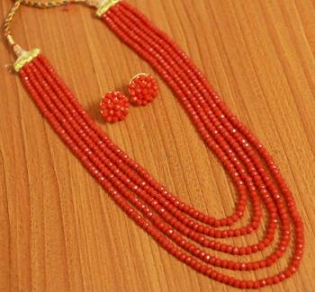 Orange Swarovski Crystal Necklace Sets