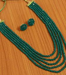 Green swarovski crystal necklace sets party-jewellery