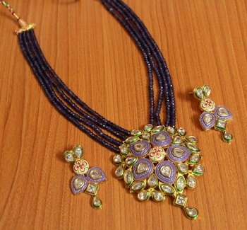 Purple onyx necklace sets