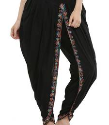 Black Cotton Embroidery Dhoti Salwar