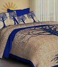 Kanha Bedsheet 100% Cotton Rajasthani Jaipuri Sanganeri Traditional King Size Double Bed Sheet with 2 Pillow Covers