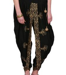 Black Cotton Printed Dhoti Salwar